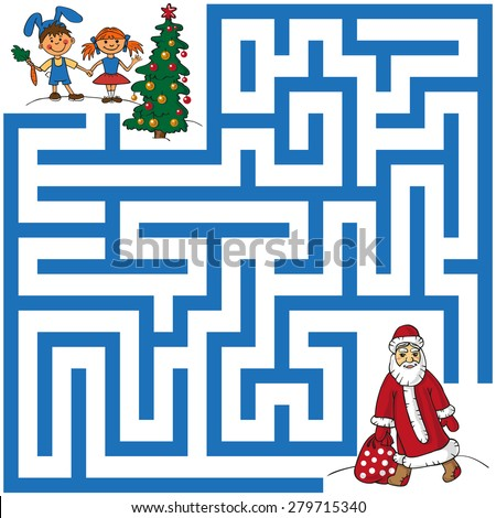 maze with santa claus  who
