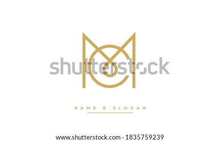 MC ,CM ,M ,C  Abstract Letters Logo Monogram
