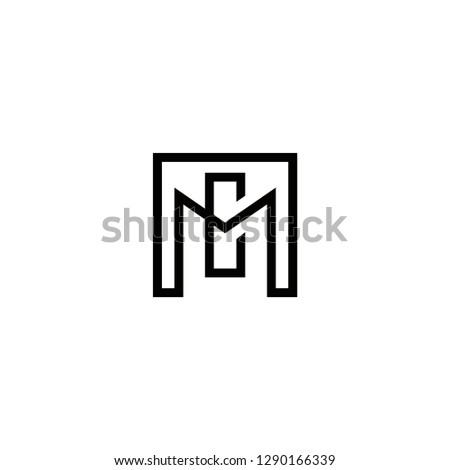 mc logo design , initial , geometric , vector , icon