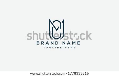 MC Logo Design Template Vector Graphic Branding Element. Zdjęcia stock ©
