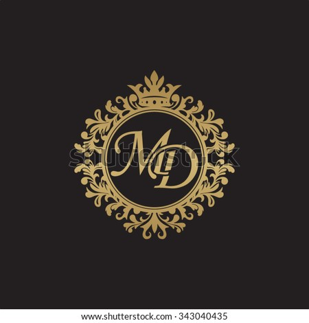 md initial luxury ornament...