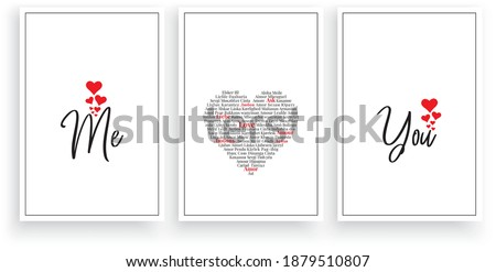 me and you  vector wording