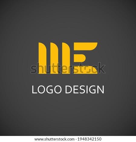 me letter for simple logo design Stok fotoğraf ©