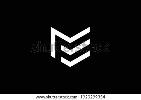ME letter logo design on luxury background. EM monogram initials letter logo concept. ME icon design. EM elegant and Professional white color letter icon design on black background. Stok fotoğraf ©