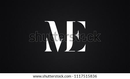 ME Letter Logo Design Template Vector Stok fotoğraf ©