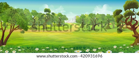 meadow and forest nature
