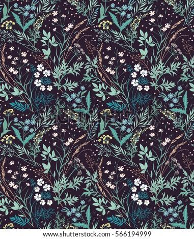 meadow wildflowers pattern