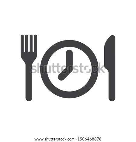 MEAL BREAKS AND ILLUSTRATION ICON CONCEPT