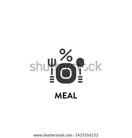 meal icon vector. meal vector graphic illustration