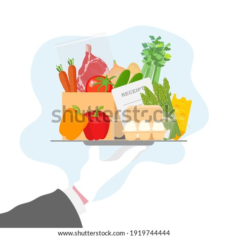 Meal kit delivery vector illustration concept in cartoon style. Meal kit safe delivery concept. Meal kit delivery, great design for any purposes.