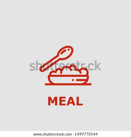 Meal symbol. Outline meal icon. Meal vector illustration for graphic art.