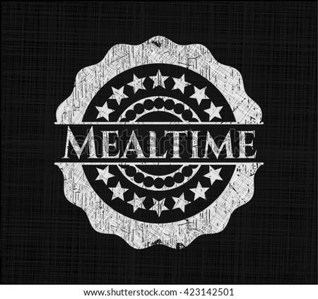 Mealtime chalkboard emblem