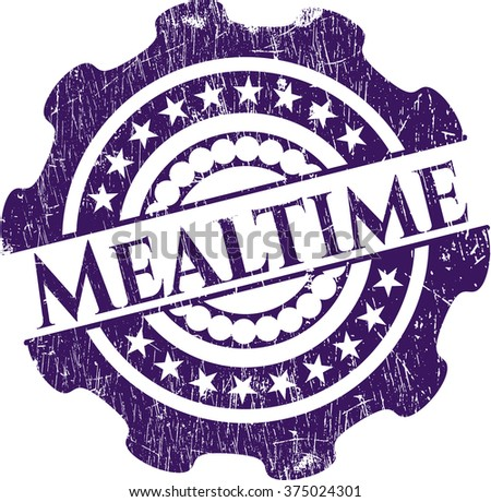 Mealtime rubber seal with grunge texture