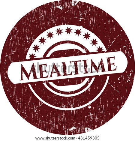 Mealtime rubber stamp with grunge texture