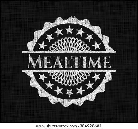 Mealtime written on a chalkboard
