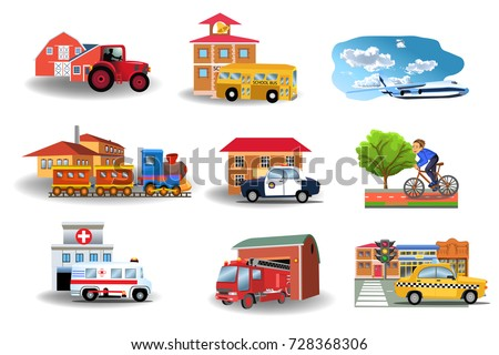 means of transport and their