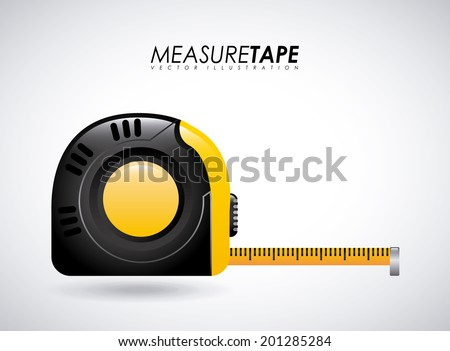 Measure design over gray background, vector illustration