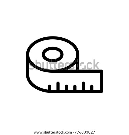 Measure line icon. High quality black outline logo for web site design and mobile apps. Vector illustration on a white background.