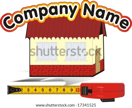 Measure meter and house. Logo. Vector