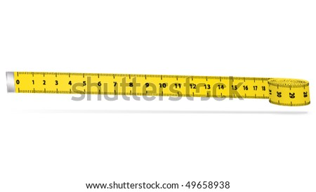 Measure tape. Vector icon. - stock vector