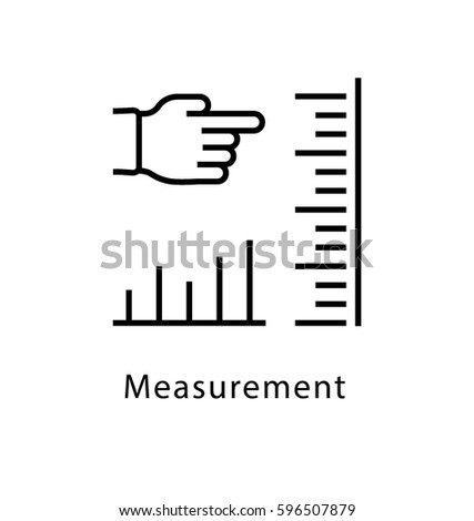 Measurement Vector Line Icon