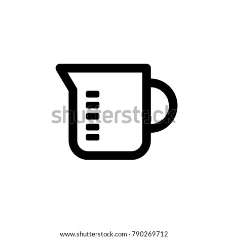 measuring cup icon,vector illustration. Flat design style. vector measuring cup icon illustration isolated on White background, measuring cup icon.