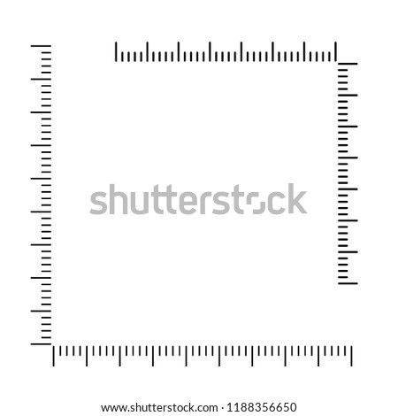 Measuring scale, markup for rulers and metric rulers. Vector illustration.