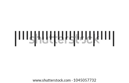 Measuring scale, markup for rulers. Vector illustration.