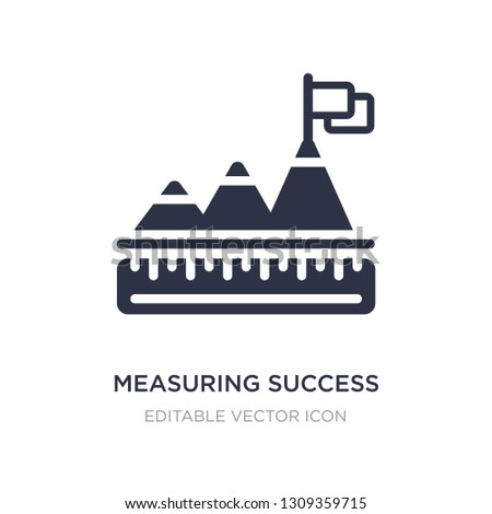measuring success icon on white background. Simple element illustration from Business concept. measuring success icon symbol design.