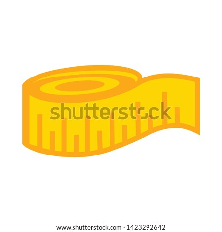 measuring tape icon. flat illustration of measuring tape vector icon for web