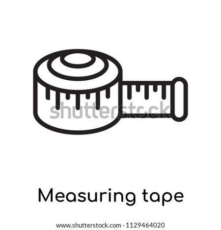 Measuring tape icon vector isolated on white background for your web and mobile app design, Measuring tape logo concept