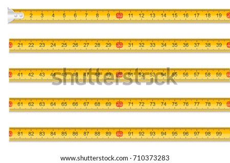 measuring tape one meter in length stock vector illustration isolated on white background