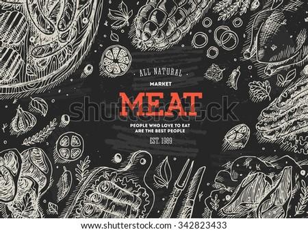 meat market  frame linear