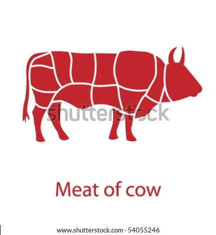 Meat of cow