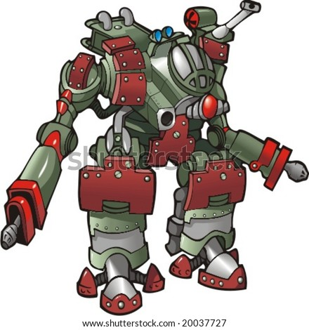 mech warrior  robot  vector