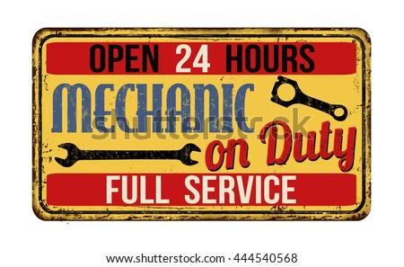 mechanic on duty on vintage...