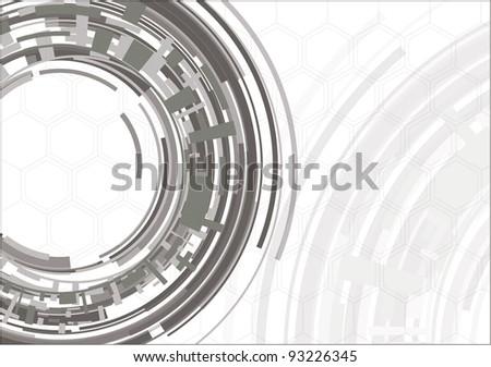 Mechanical background - stock vector