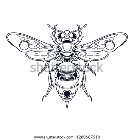 mechanical bee steampunk