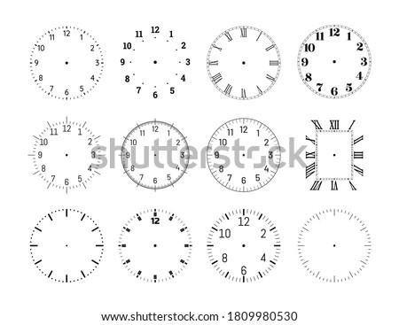 mechanical clock face dials