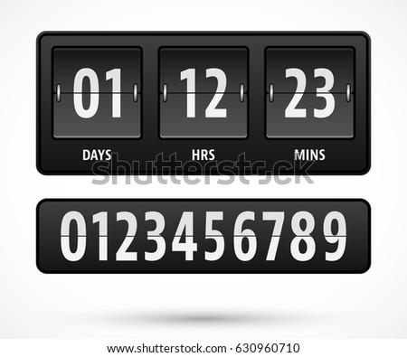 mechanical countdown timer template with days hours and minutes