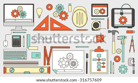 mechanical engineer banner with