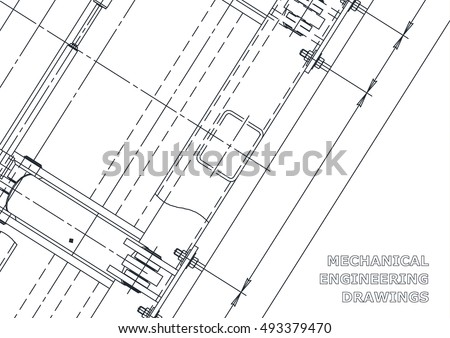 Mechanical Engineering drawing. Blueprints. Mechanics. Cover. Engineering design, construction