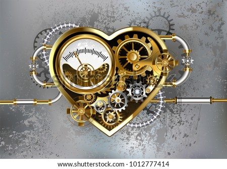 mechanical heart with manometer