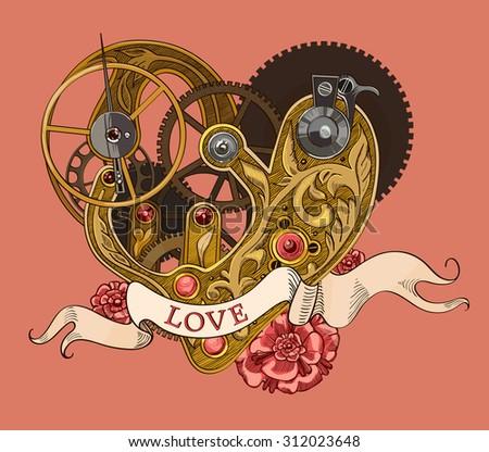 mechanical human heart with