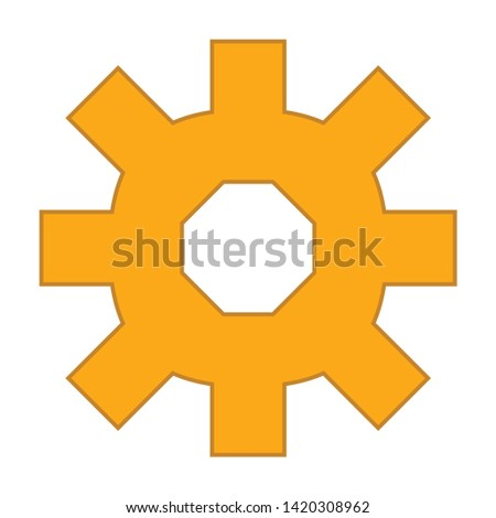 mechanical icon. flat illustration of mechanical vector icon for web