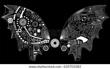 mechanical moth wings