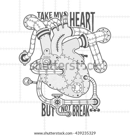 mechanical motor heart image in