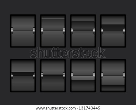 Mechanical Panel Change Process Stages. Vector Illustration