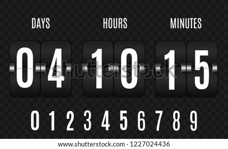 Vintage Number Counter - Download Free Vector Art, Stock Graphics