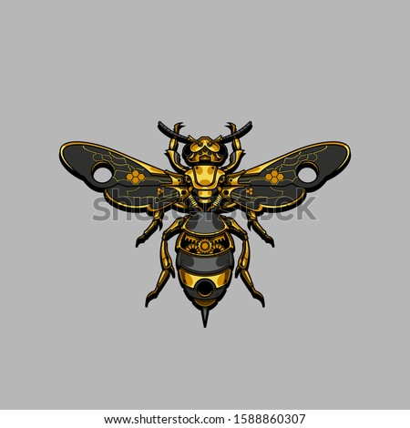 mechanical steampunk bee